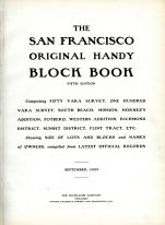 Title Page, San Francisco 1909 Block Book - Surveys of Fifty Vara - One Hundred Vara - South Beach - Mission
